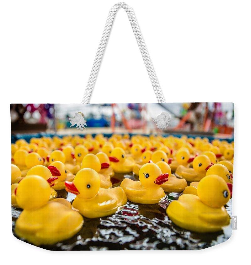 Duck Weekender Tote Bags