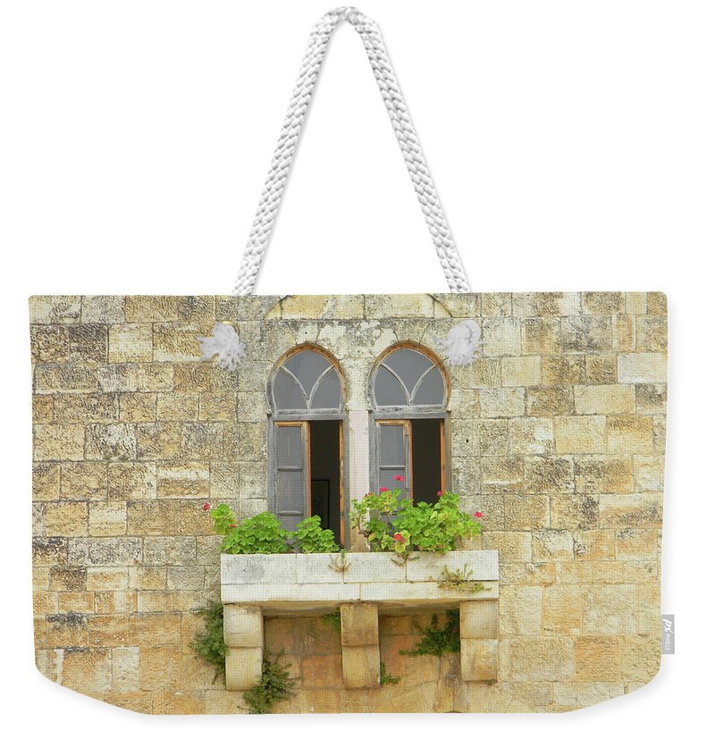 Marwan Weekender Tote Bag featuring the photograph Coupled Windows by Marwan George Khoury