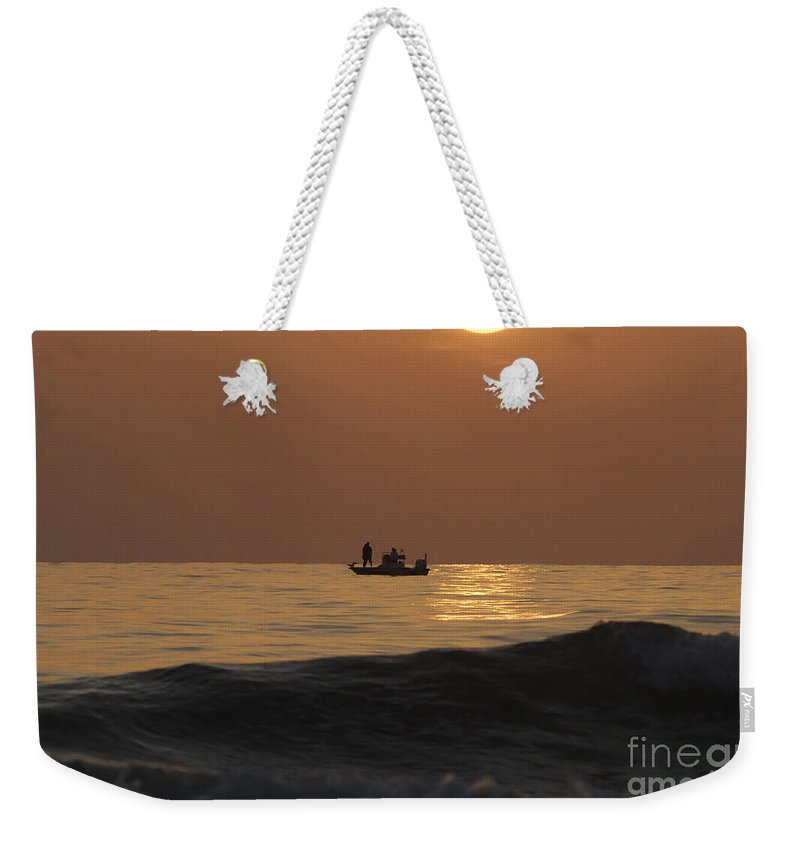 Sunset Weekender Tote Bag featuring the photograph Couples At Sunset by David Lee Thompson