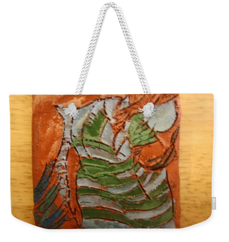 Jesus Weekender Tote Bag featuring the ceramic art Courtesy - Tile by Gloria Ssali