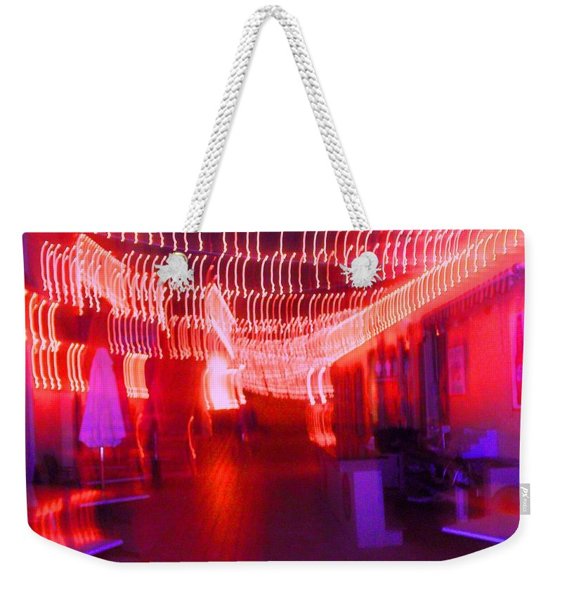 Photograph Weekender Tote Bag featuring the photograph Courtside Lounge 2 by Thomas Valentine