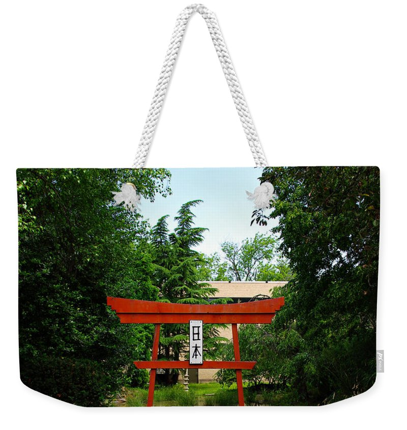 Scenery Weekender Tote Bag featuring the photograph Courtyard by Scott Wyatt