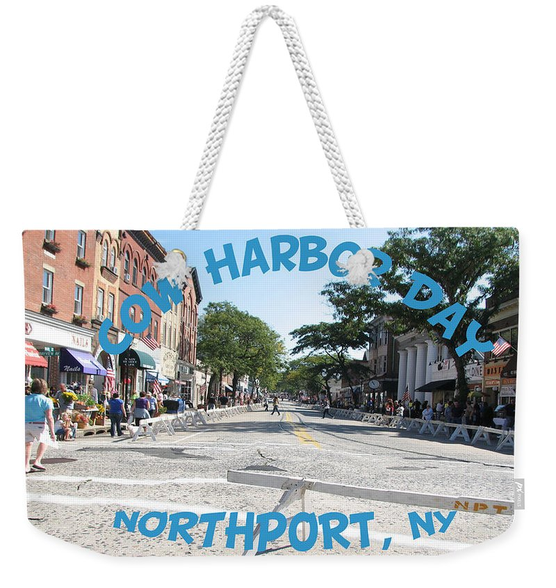 Cow Harbor Day Weekender Tote Bag featuring the photograph Cow Harbor Day Fun by SJ Lindahl