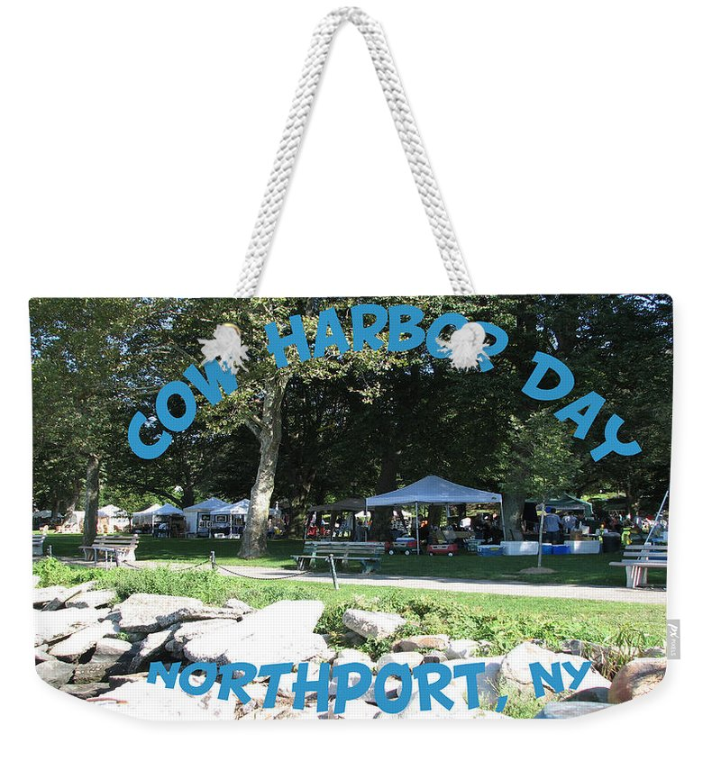 Cow Harbor Day Weekender Tote Bag featuring the photograph Cow Harbor Day by SJ Lindahl