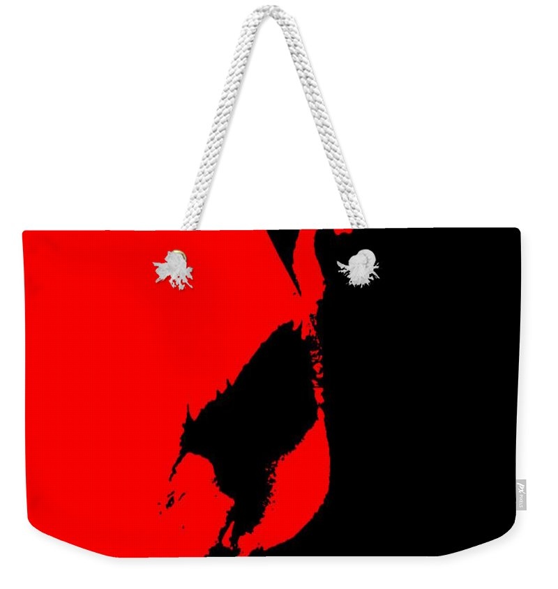 Ink Weekender Tote Bag featuring the photograph Cow Head #photography #art by Nathan Little