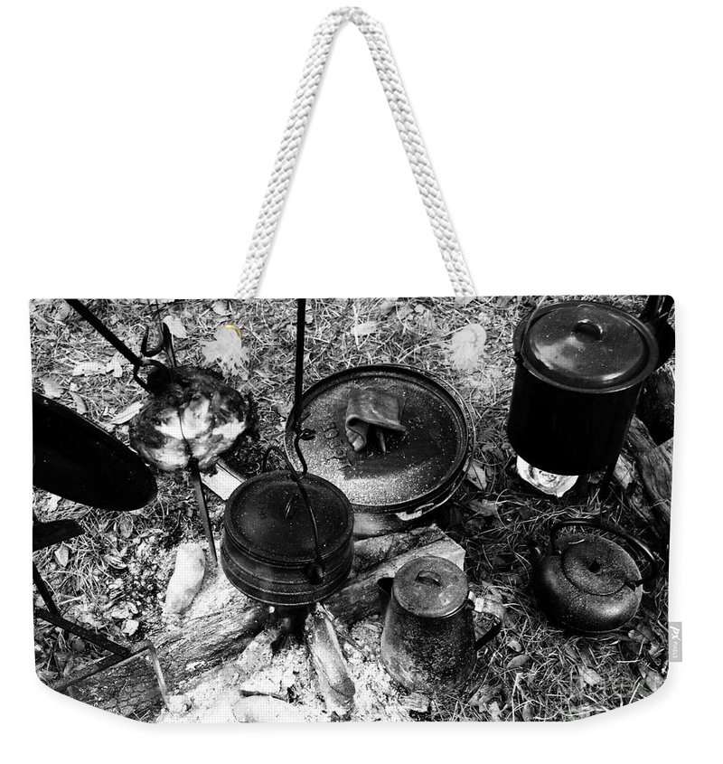 Cooking Weekender Tote Bag featuring the photograph Cowboy Cooking by David Lee Thompson