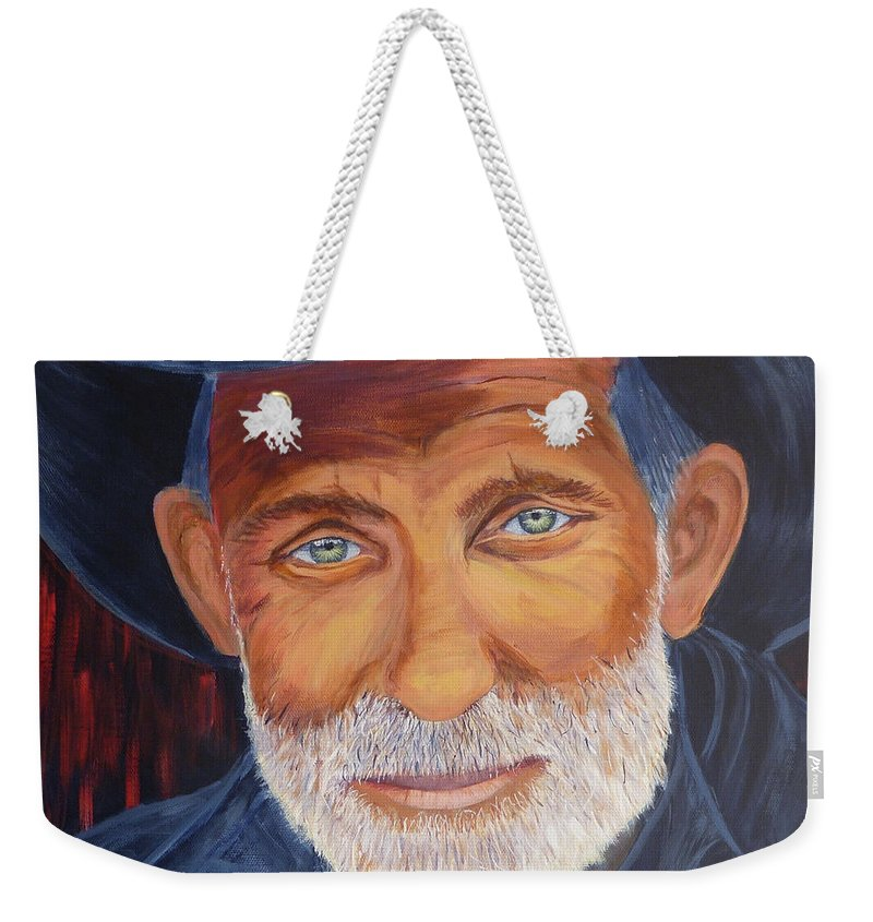 Cowboy Weekender Tote Bag featuring the painting Cowboy Tex by Alicia Fowler