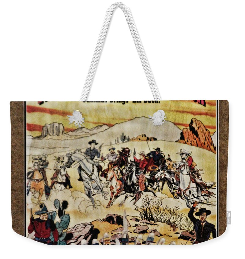 Cowboys Weekender Tote Bag featuring the photograph Cowboys And Knives by Steven Parker