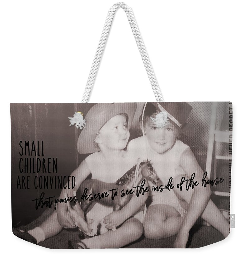Cowgirl Weekender Tote Bag featuring the photograph Cowgirls Quote by JAMART Photography
