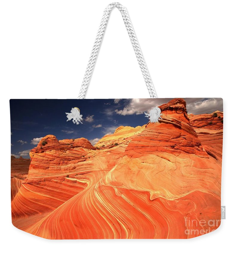 Coyote Buttes Weekender Tote Bag featuring the photograph Coyote Buttes Sandstone Towers by Adam Jewell