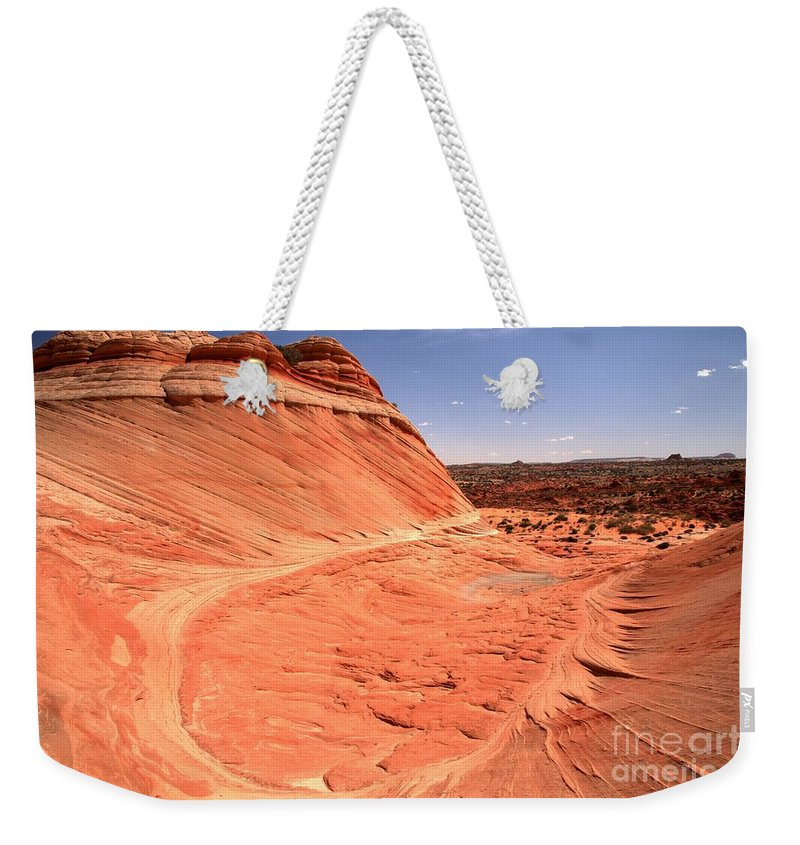 Coyote Buttes Weekender Tote Bag featuring the photograph Coyote Buttes Swirling Sandstone by Adam Jewell