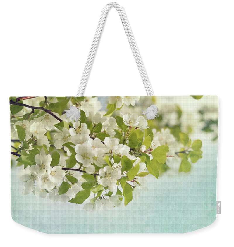 Crabapple Weekender Tote Bag featuring the photograph Crabapple Blossoms by Priska Wettstein