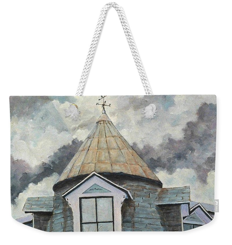 Art Weekender Tote Bag featuring the painting Crack The Sky by Richard T Pranke