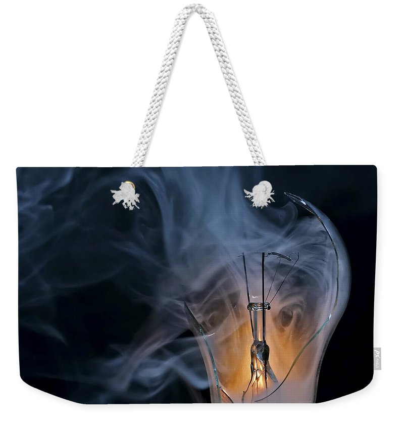 Bulb Weekender Tote Bag featuring the photograph Cracked Bulb by Michal Boubin