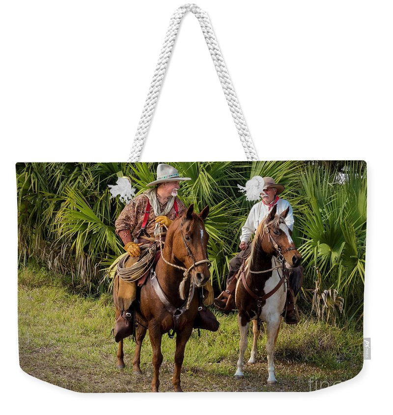 Cracker Cowboys Weekender Tote Bag featuring the photograph Cracker Cowboys by Teresa A and Preston S Cole Photography