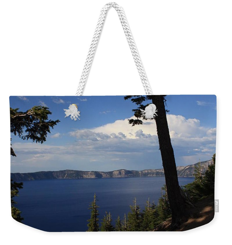 Landscape Weekender Tote Bag featuring the photograph Crater Lake 7 by Carol Groenen