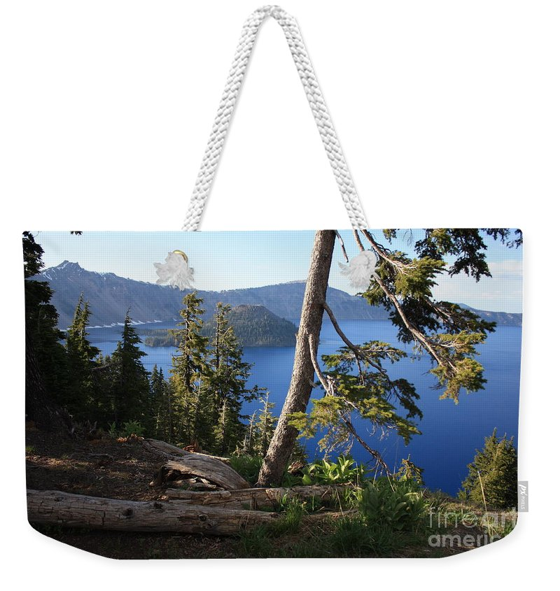 Crater Lake Weekender Tote Bag featuring the photograph Crater Lake 9 by Carol Groenen