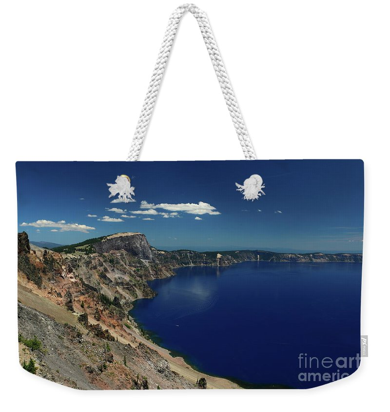 Crater Lake Weekender Tote Bag featuring the photograph Crater Lake A Caldera Lake by Christiane Schulze Art And Photography
