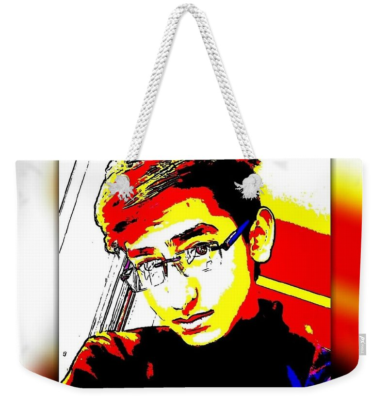 Colourful Selfie Weekender Tote Bag featuring the photograph Crazy Colours by Rohit Ranjan