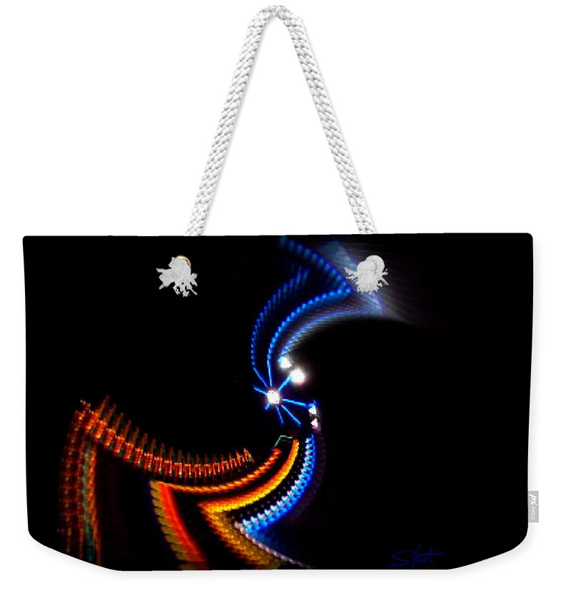 Chaos Weekender Tote Bag featuring the photograph Crazy Dancer by Charles Stuart