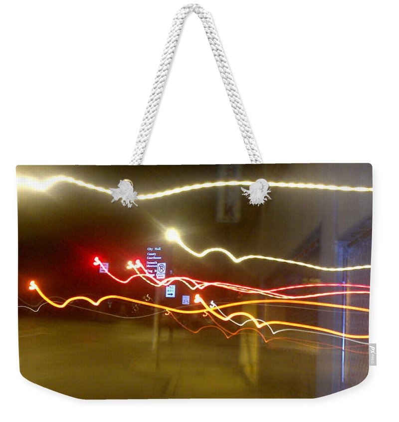 Photograph Weekender Tote Bag featuring the photograph Crazy Duke Street Lights by Thomas Valentine