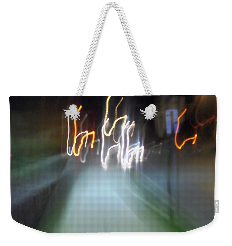 Photograph Weekender Tote Bag featuring the photograph Crazy Lights by Thomas Valentine