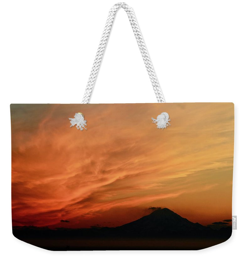 Sky Weekender Tote Bag featuring the photograph Crazy by Rick Monyahan