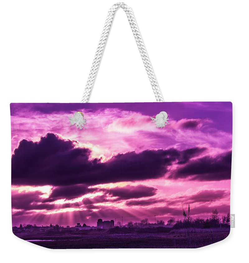 Sunset Weekender Tote Bag featuring the photograph Crazy Sunset by James Nalesnik