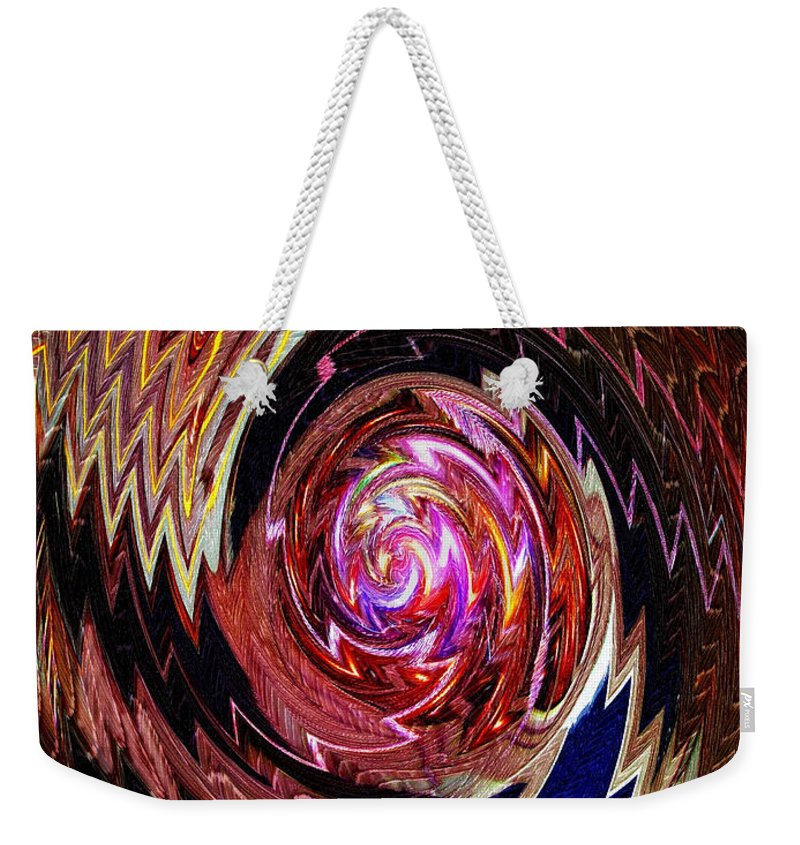 Abstract Weekender Tote Bag featuring the photograph Crazy Swirl Art by Sue Melvin