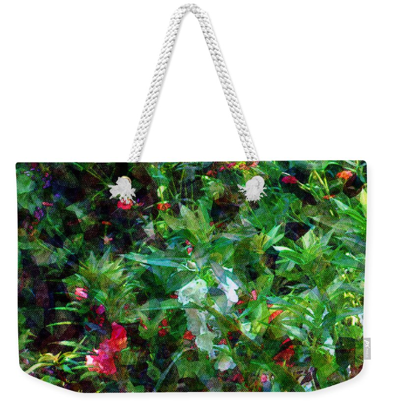 Garden Weekender Tote Bag featuring the digital art Crazyquilt Garden by RC DeWinter