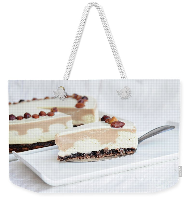 Cream Weekender Tote Bag featuring the photograph Cream Cake by PhotoStock-Israel