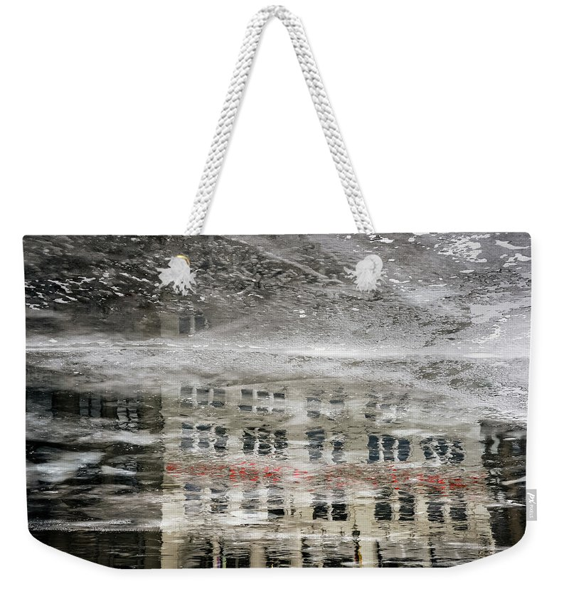 Ice Weekender Tote Bag featuring the photograph Cream City Cold by Scott Norris