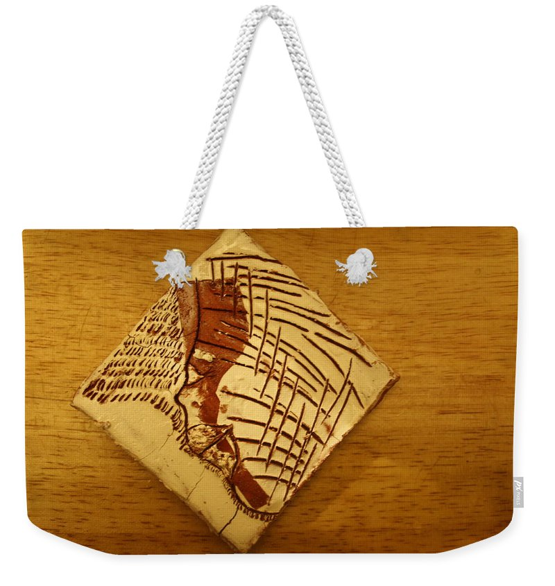 Jesus Weekender Tote Bag featuring the ceramic art Create - Tile by Gloria Ssali