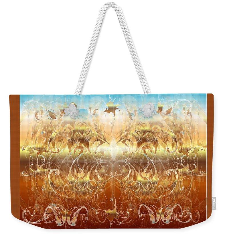 Fantasy Weekender Tote Bag featuring the digital art Creation II by George Pasini