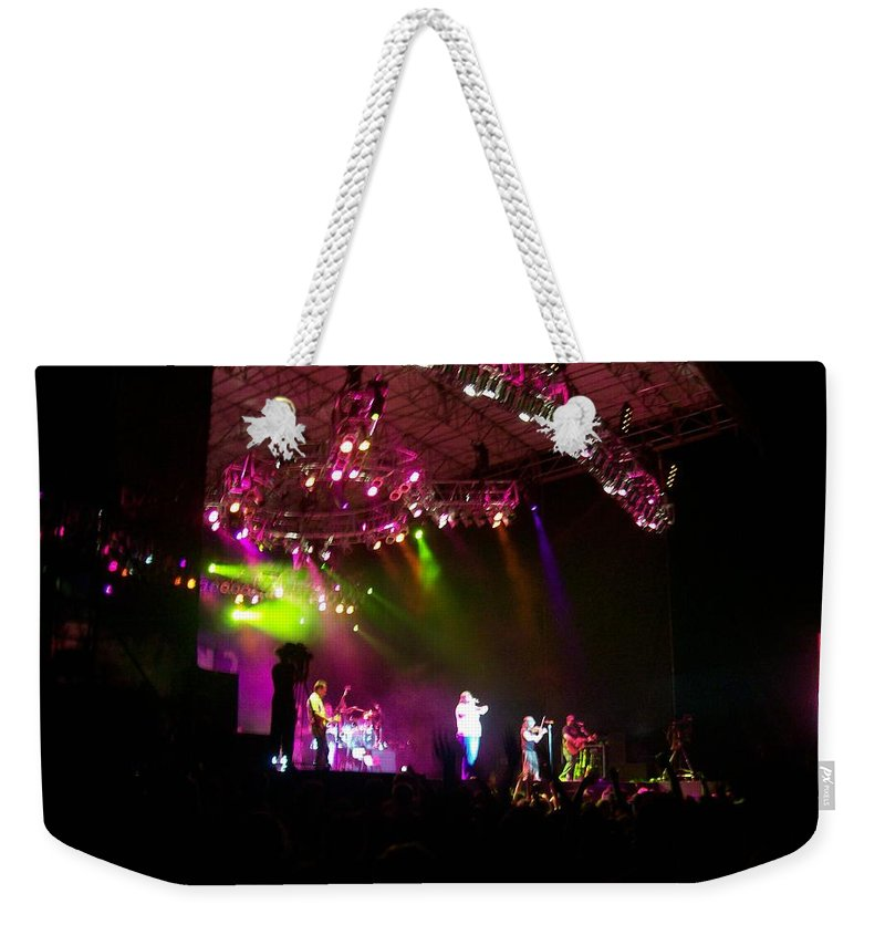 Creationfest At Night Weekender Tote Bag featuring the photograph Creationfest At Night by R Chambers