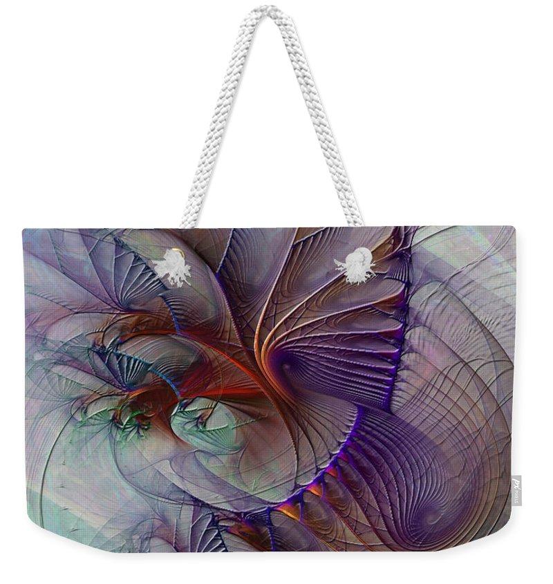 Creative Mind Weekender Tote Bag featuring the digital art Creative Mind by John Beck