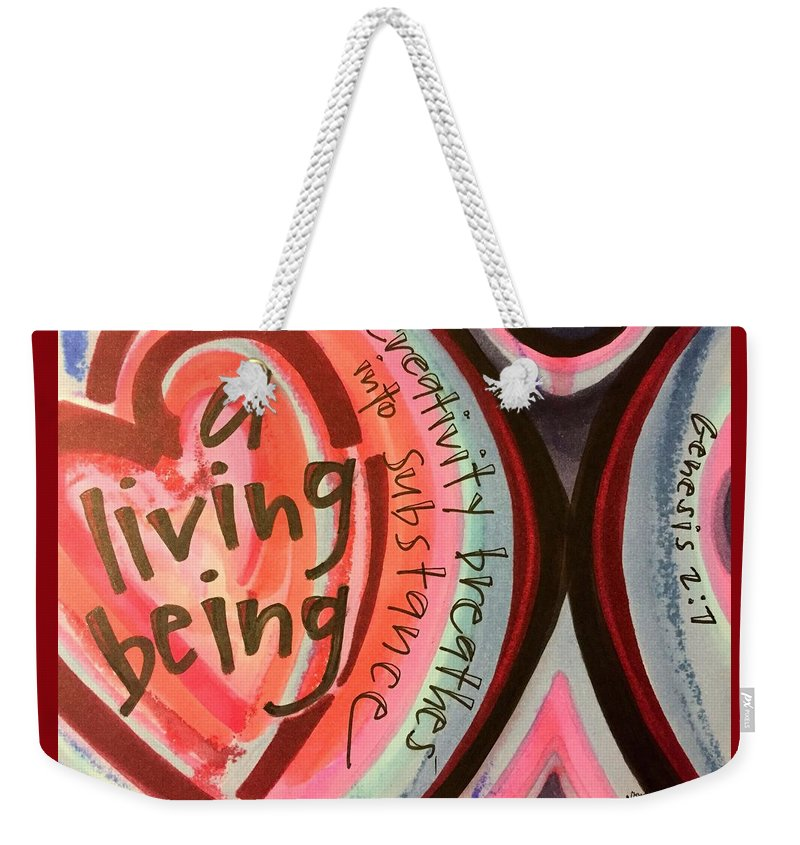 Creativity Weekender Tote Bag featuring the painting Creativity Breathes by Vonda Drees