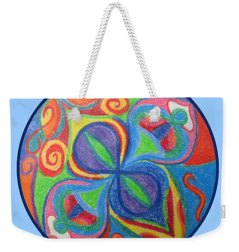 Mandala Weekender Tote Bag featuring the drawing Creativity by Corynne Hilbert