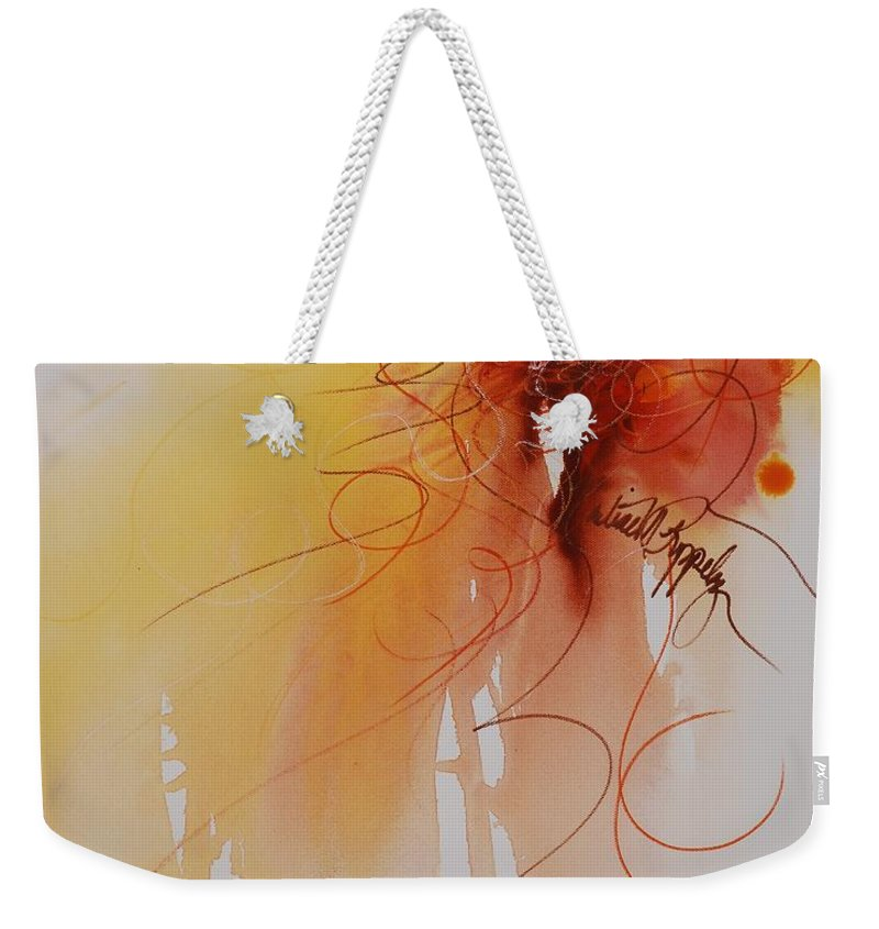 Creativity Weekender Tote Bag featuring the painting Creativity by Nadine Rippelmeyer