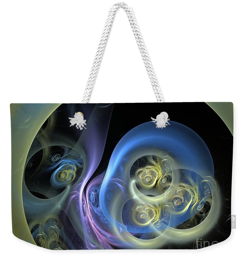 Apophysis Weekender Tote Bag featuring the digital art Creatures From Beneath by Deborah Benoit