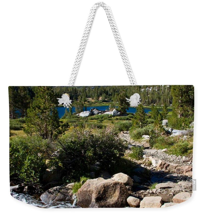 Heart Lake Foliage Weekender Tote Bag featuring the photograph Creek At Heart Lake by Chris Brannen