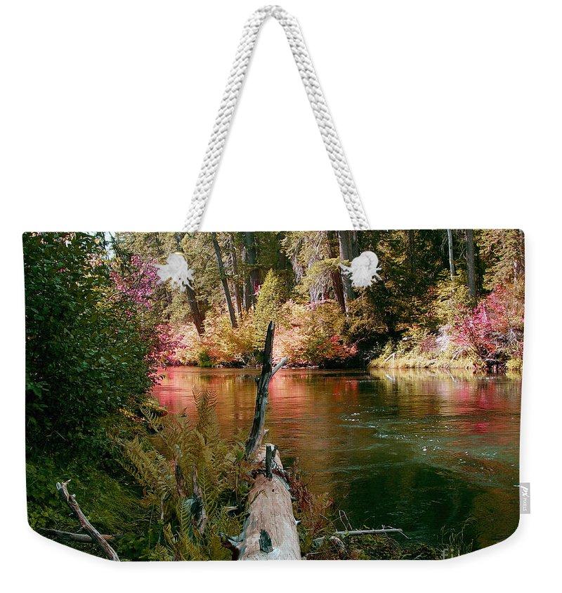Fall Season Weekender Tote Bag featuring the photograph Creek Fall by Peter Piatt
