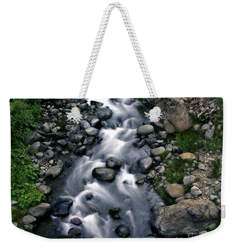 Creek Weekender Tote Bag featuring the photograph Creek Flow by Peter Piatt