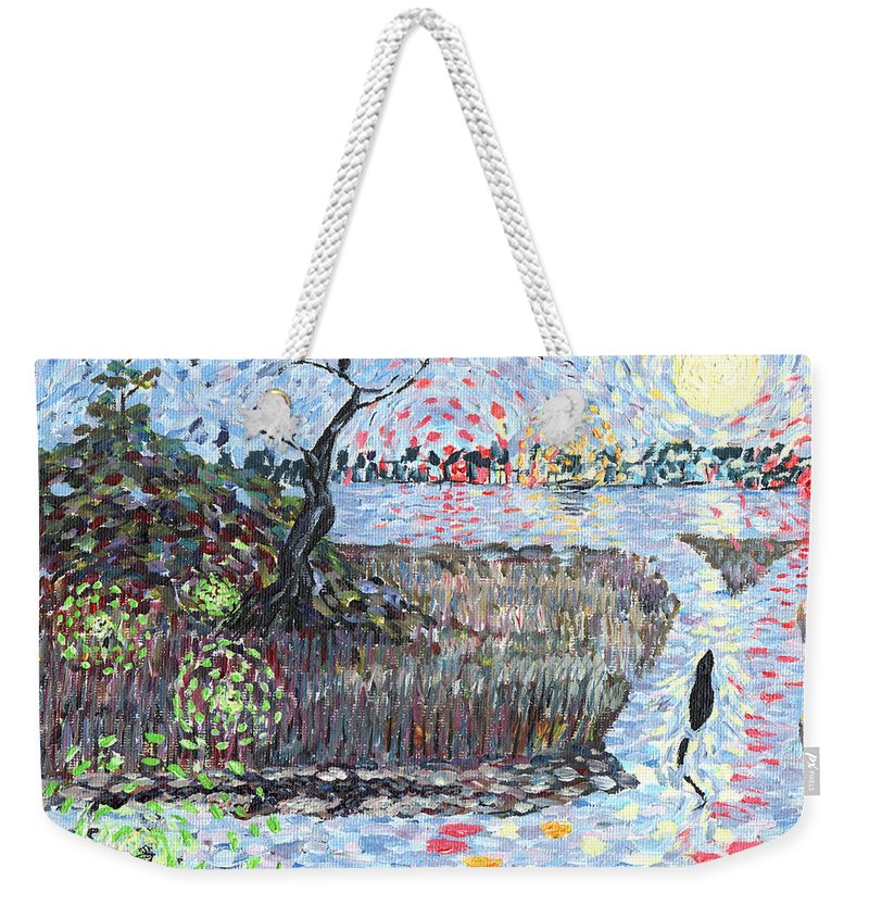Impressionism Weekender Tote Bag featuring the painting Creek Impressions #2 - Nocturne by Toby Daniel Jones