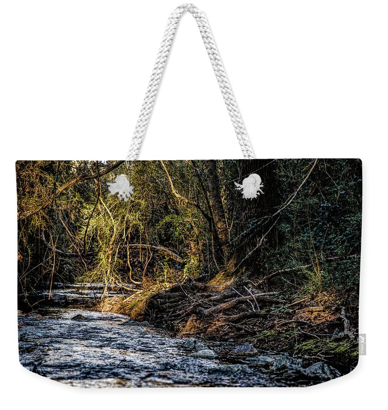 Plants Weekender Tote Bag featuring the photograph Creek by Thomas Fields