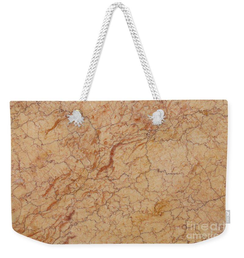 Crema Valencia Weekender Tote Bag featuring the photograph Crema Valencia Granite by Anthony Totah
