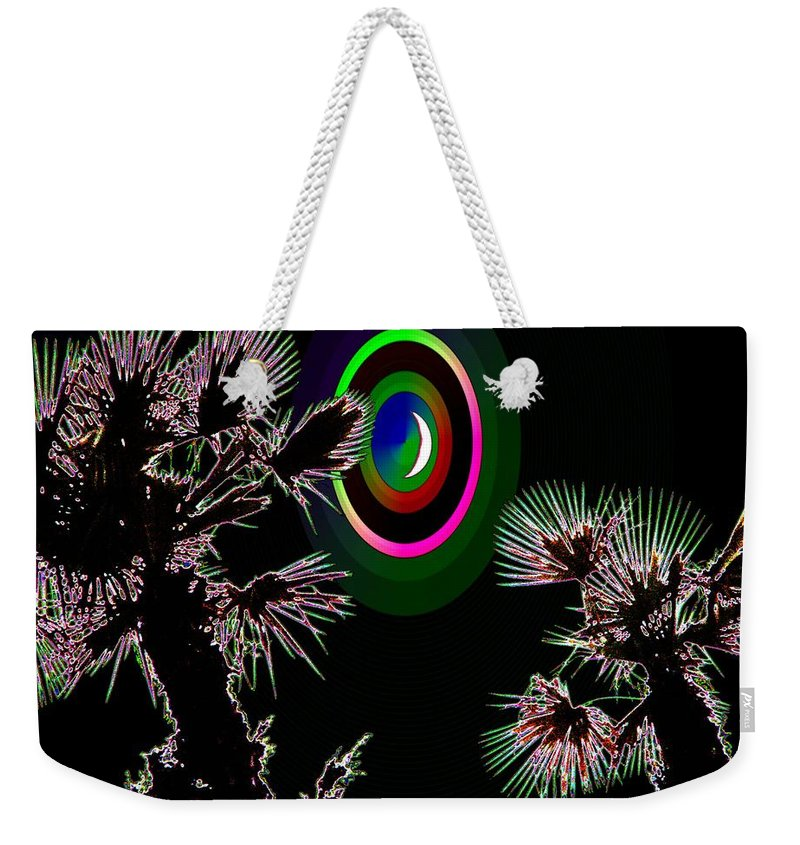 Crescent Weekender Tote Bag featuring the photograph Crescent And Palms 3 by Tim Allen