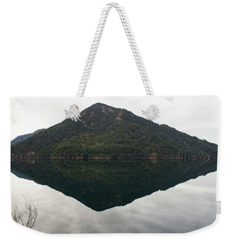Lake Weekender Tote Bag featuring the photograph Crescent Lake Reflection by Roger Patterson