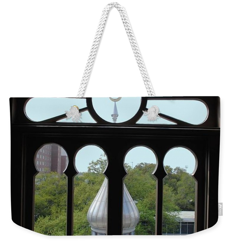 University Of Tampa Weekender Tote Bag featuring the photograph Crescent Window by Jost Houk