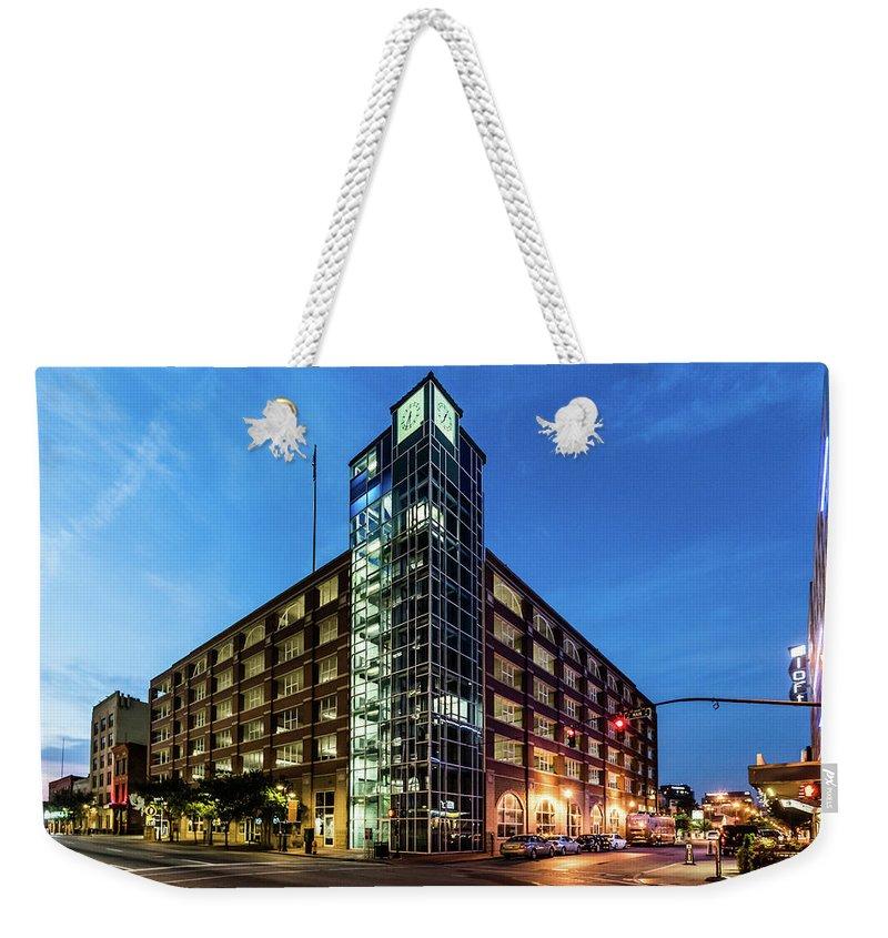2017 Weekender Tote Bag featuring the photograph Cressman Center by Randy Scherkenbach